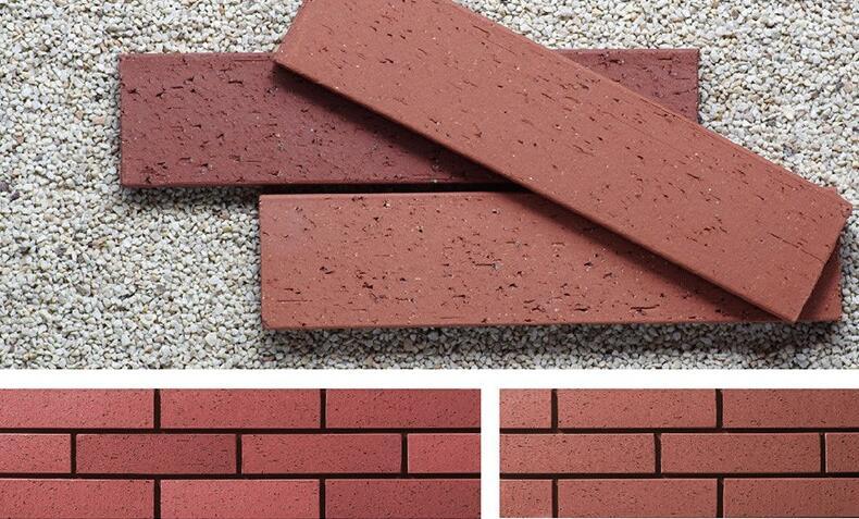 红色劈开砖系列
