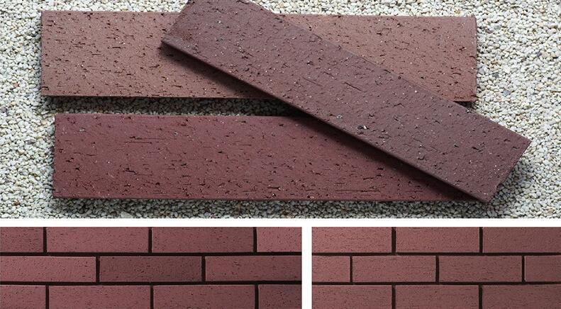 棕红色劈开砖